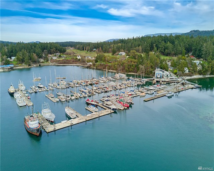 WEST SOUND MARINA for sale commercial property for sale windermere real estate orcas island wally gudgell group san juan islands salish sea
