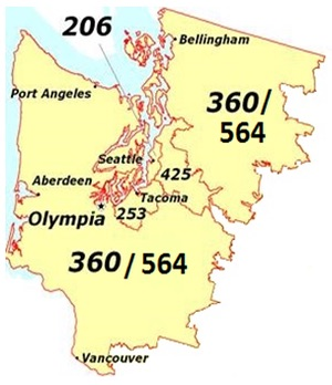 western washington area code overlay changes san juan islands