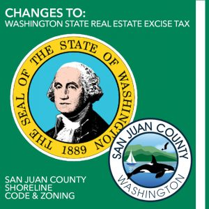 washington state real estate excise tax changes shoreline code san juan county wally gudgell group windermere