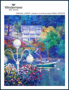 COVER 2020 Windermere Orcas Lopez Crane and Outer Islands Ferry Catalog Link Wally Gudgell Group San Juan Islands Realtor