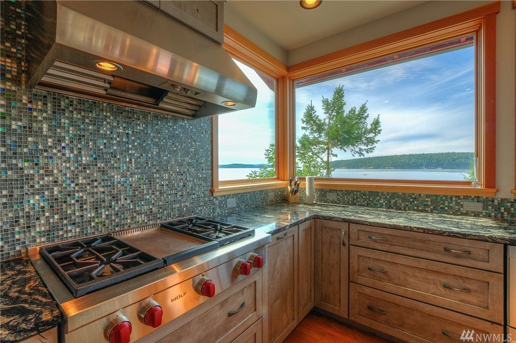 Foster Point Luxury Waterfront Home For Sale Orcas Island Real Estate Windermere Gudgell Group chefs kitchen