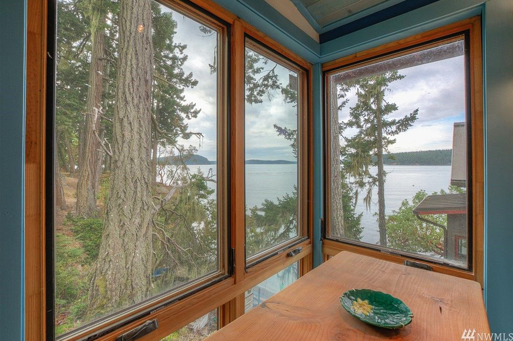 Foster Point Luxury Waterfront Home For Sale Orcas Island Real Estate Windermere Gudgell Group water view office