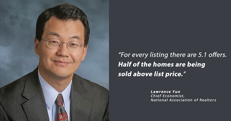 lawrence yun cheif economist national assocation of realtors multiple offers seller's market wally gudgell group windermere real estate orcas island realty san juan islands