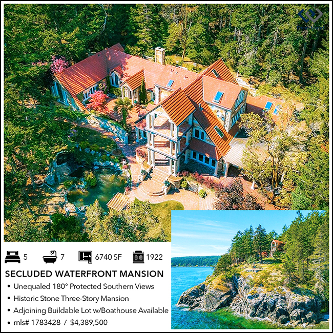 secluded waterfront historic orcas island mansion wally gudgell group windermere real estate realty san juan islands