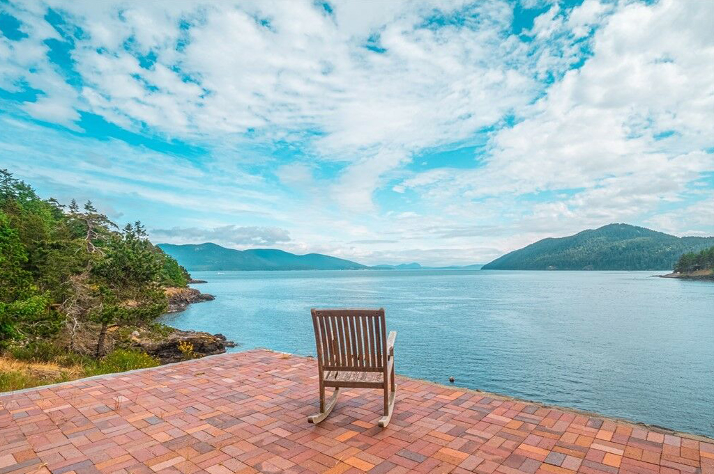 Secluded Deer Point Waterfront Stone Mansion For Sale Orcas Island Real Estate Windermere Gudgell Group Realty San Juan Islands